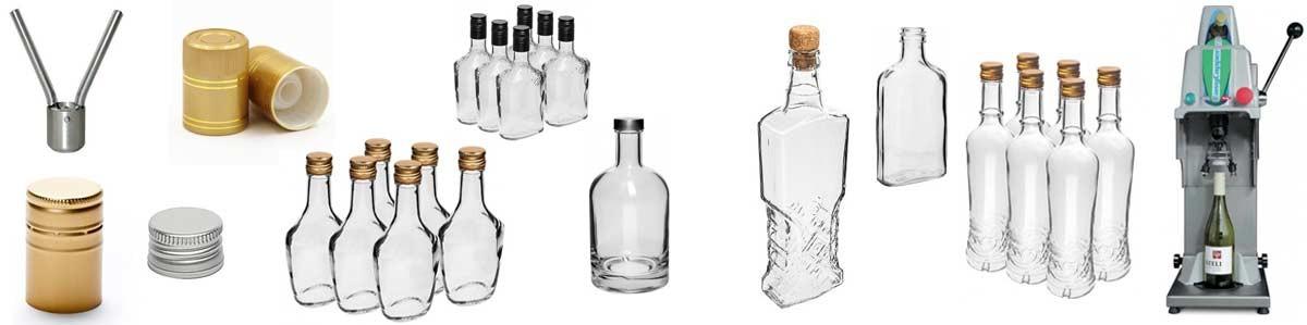 Pudeles uzlējumiem, korķi un aizvalcētāji